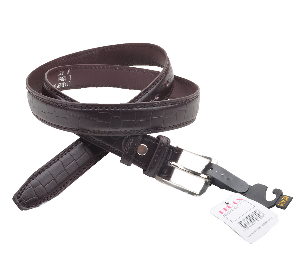 Bulk Buy Leather Belts 3.0cm Brown BLT1109-2