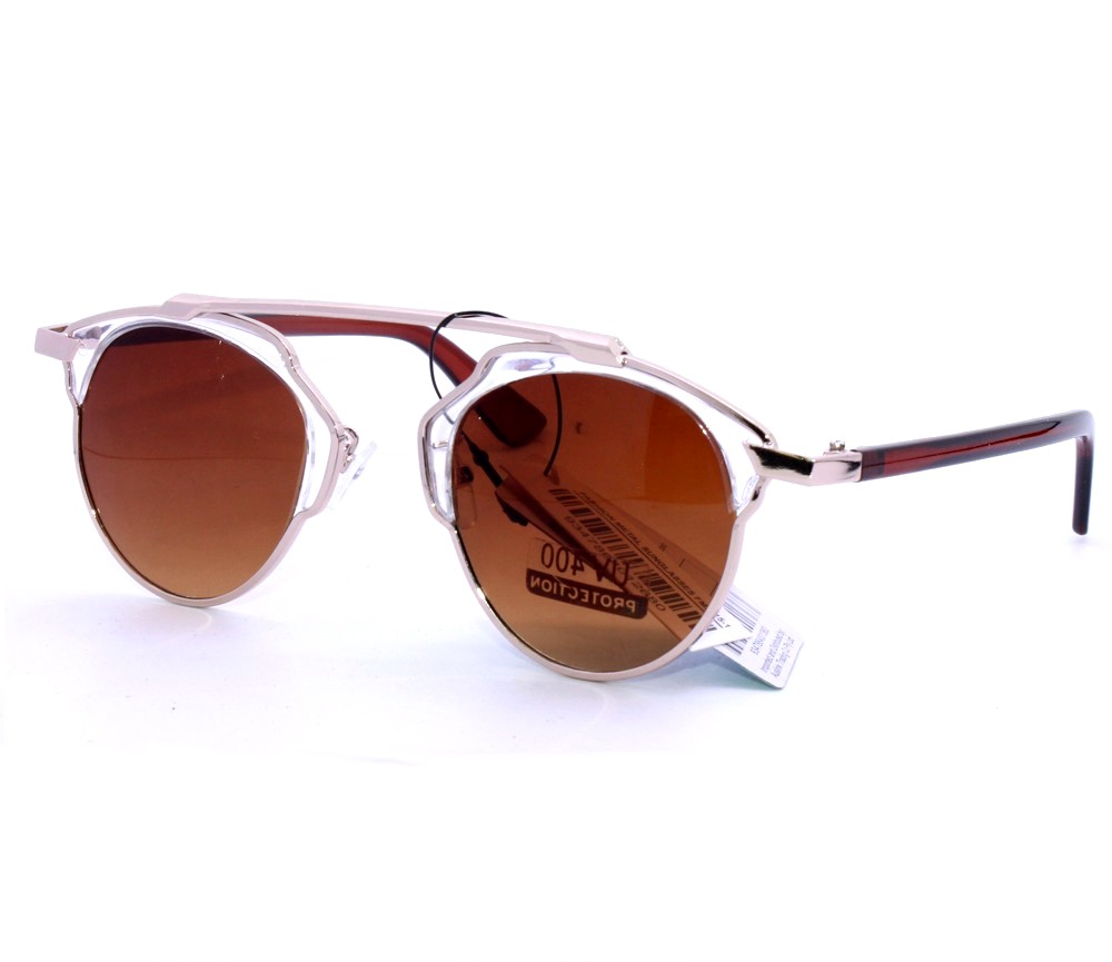 Designer Fashion Metal Sunglasses FM2115-1