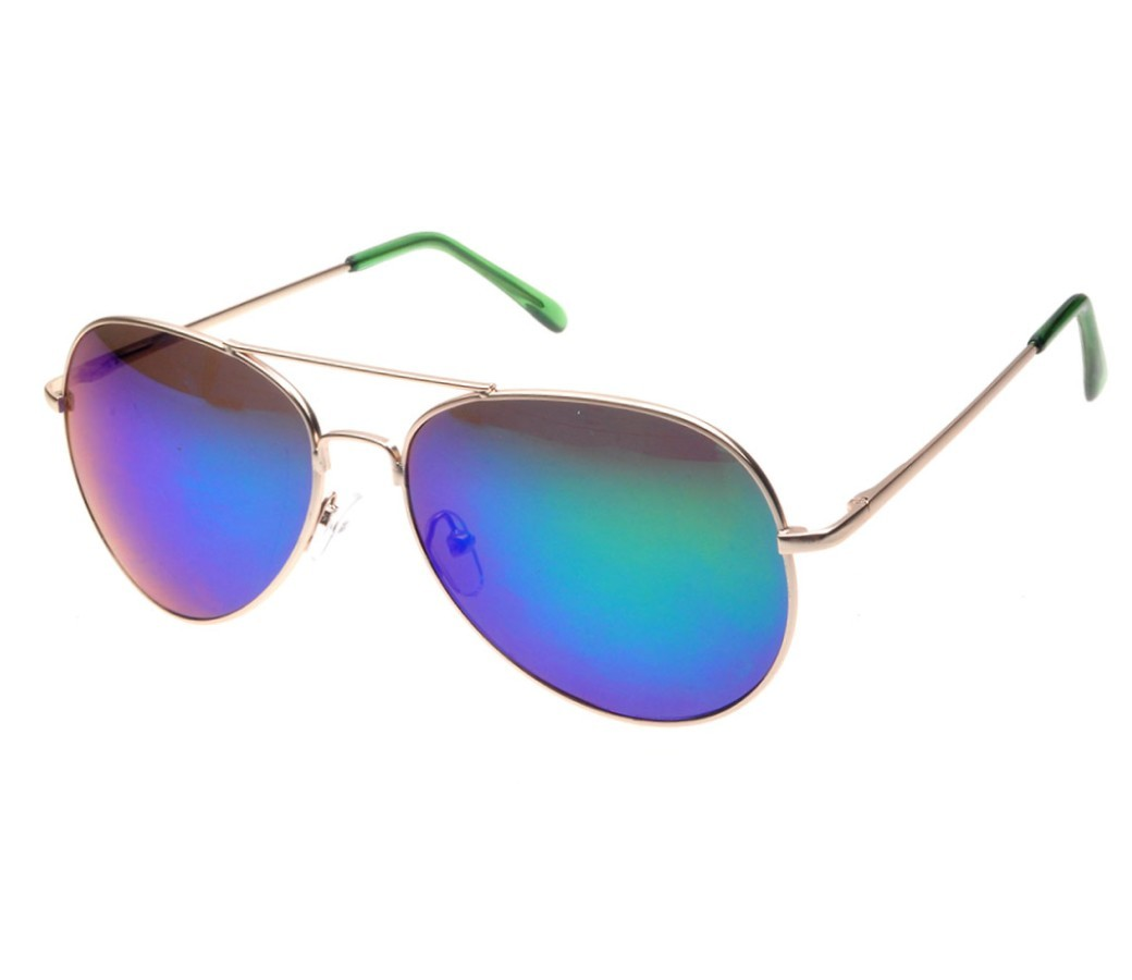 Aviator Metal Sunglasses (Spring Temple Tinted Lens) RB004-2