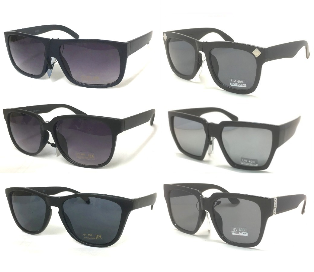 Fashion Plastic Unisex Dark Lens Sunglasses Sample Pack