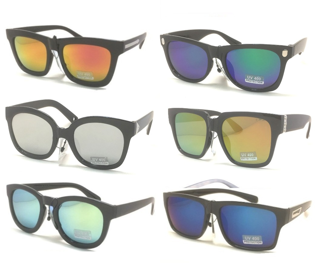 Fashion Plastic Unisex Tinted Lens Sunglasses Sample Pack