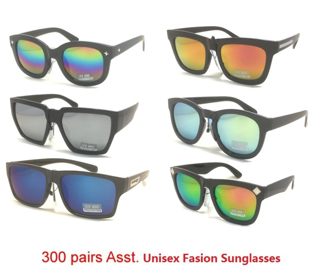 300 pair Bulk Buy Tinted Lens Plastic Fashion Sunglasses