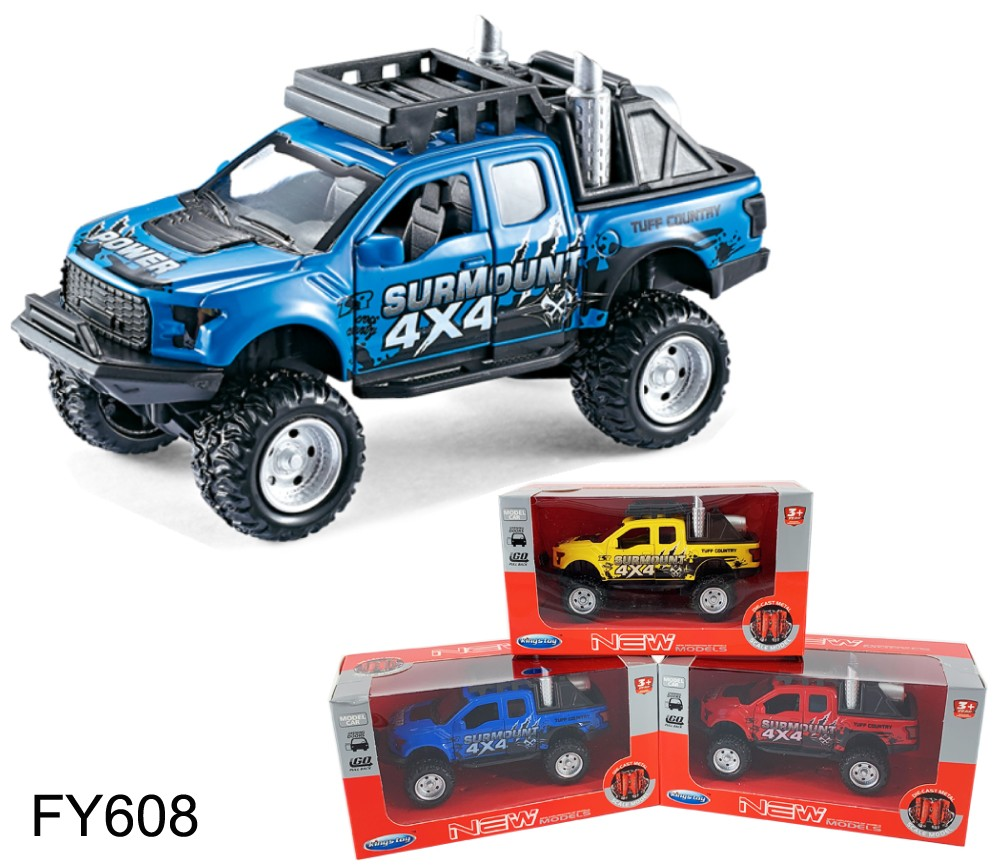 1:36 Diecast Model 4x4 F-150 PickUp 3 colours Asst. FY608W