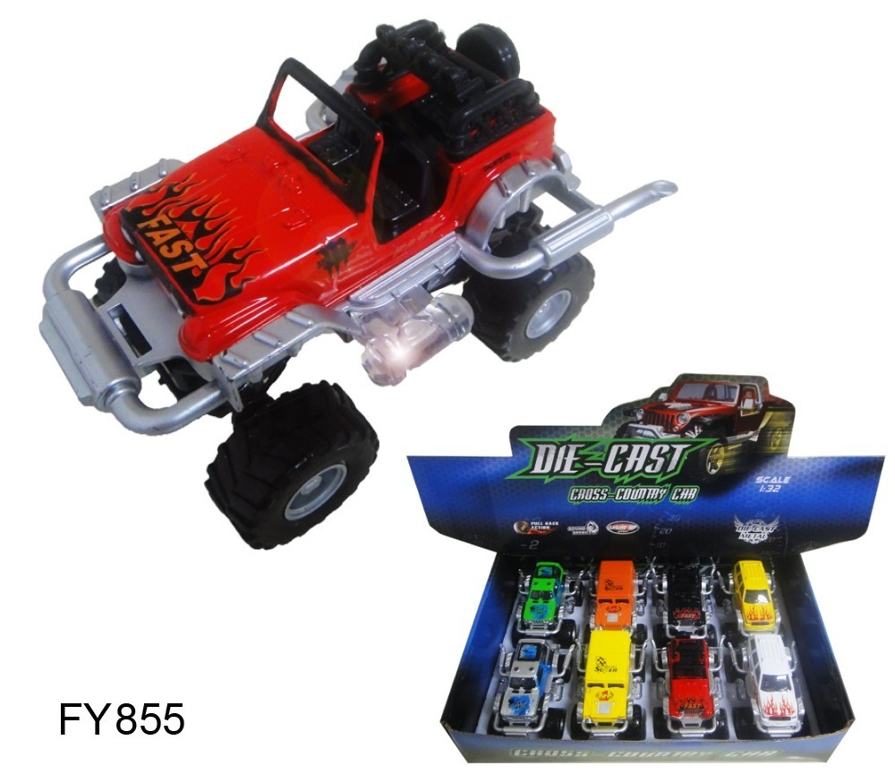 1:32 Diecast Model Off Road 4WD Convertible 4 Asst FY8855-8D