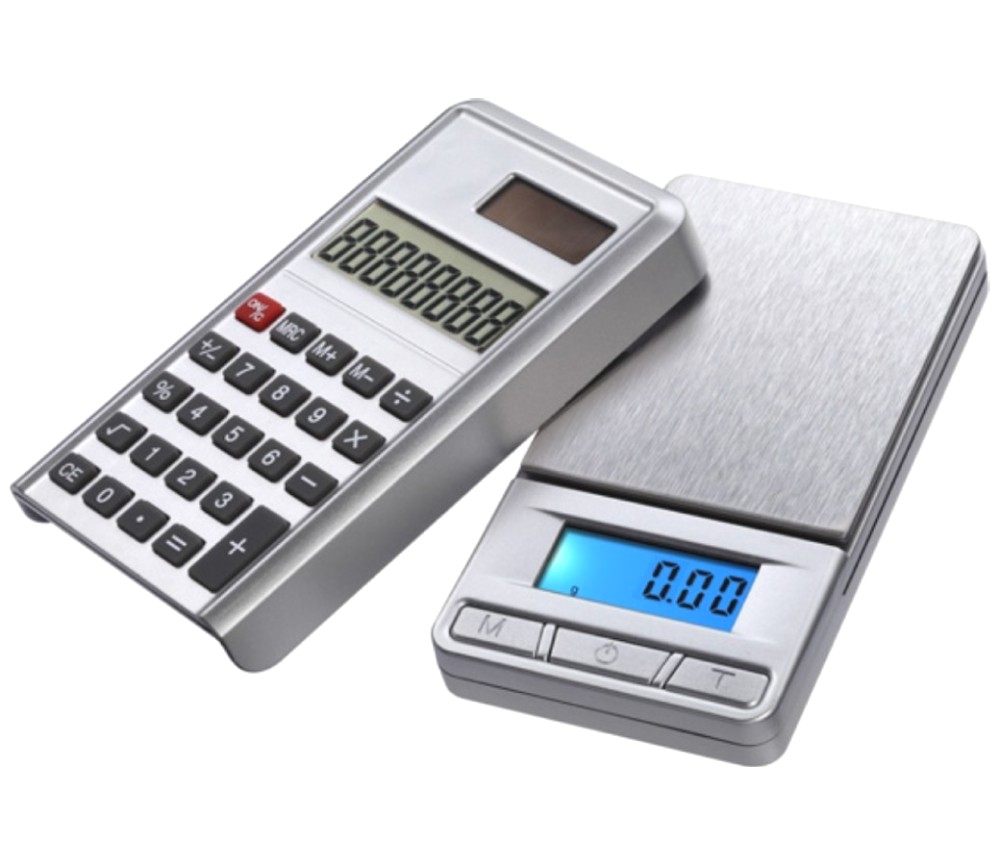 Digital Caculator Scale PC100 100g/0.01g Silver