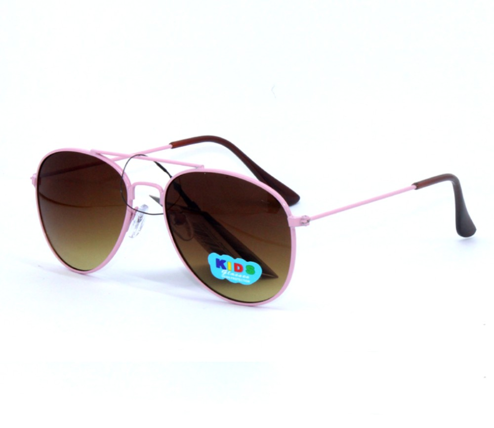 Kids Colour Frame Aviator Metal Sunglasses KM8062-1