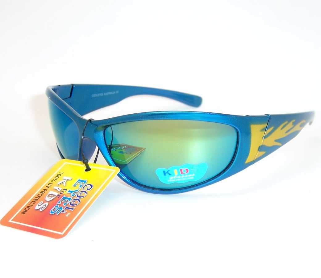 Kids Sports Sunglasses with Flame Paining KS8016
