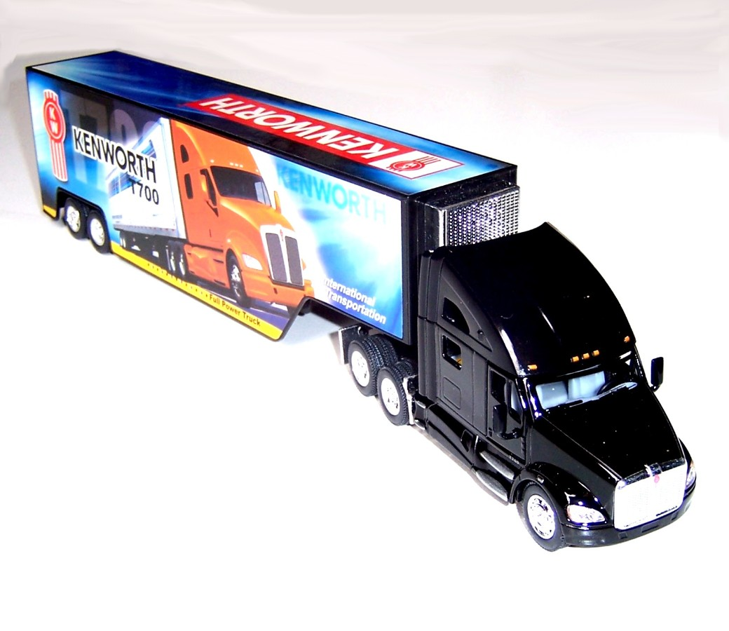 1:68 Kenworth Truck with Container Mixed Colours T700 KT1302D
