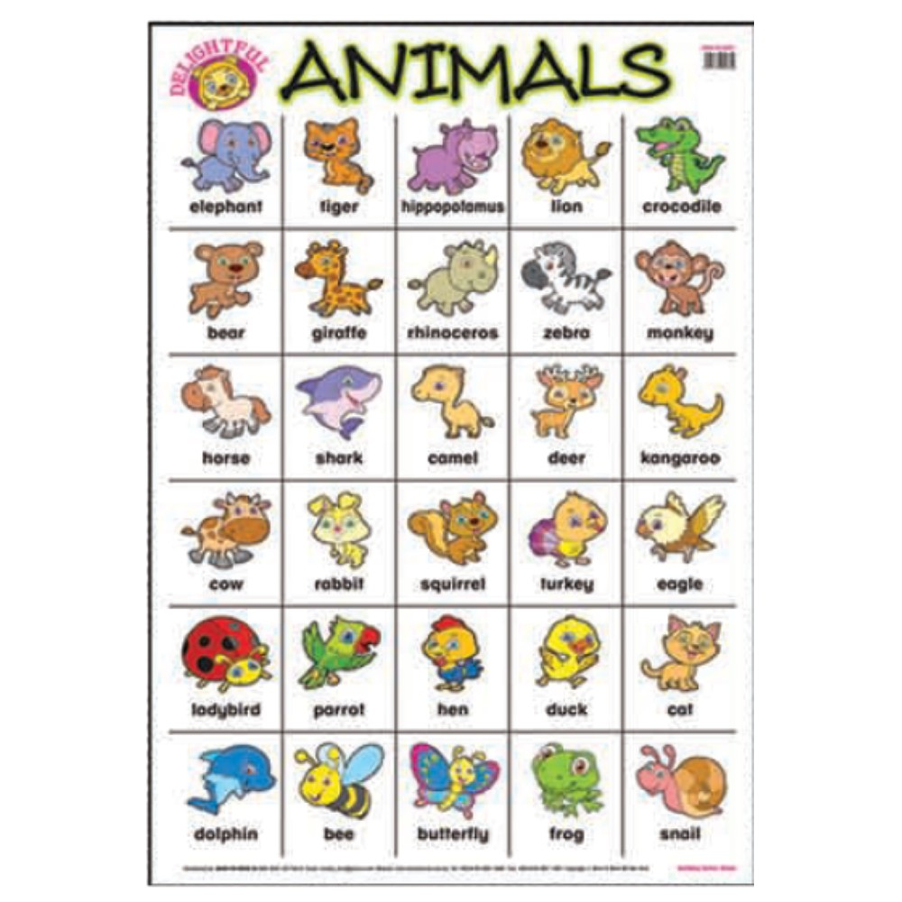 Educational Chart Animals (MM00624)