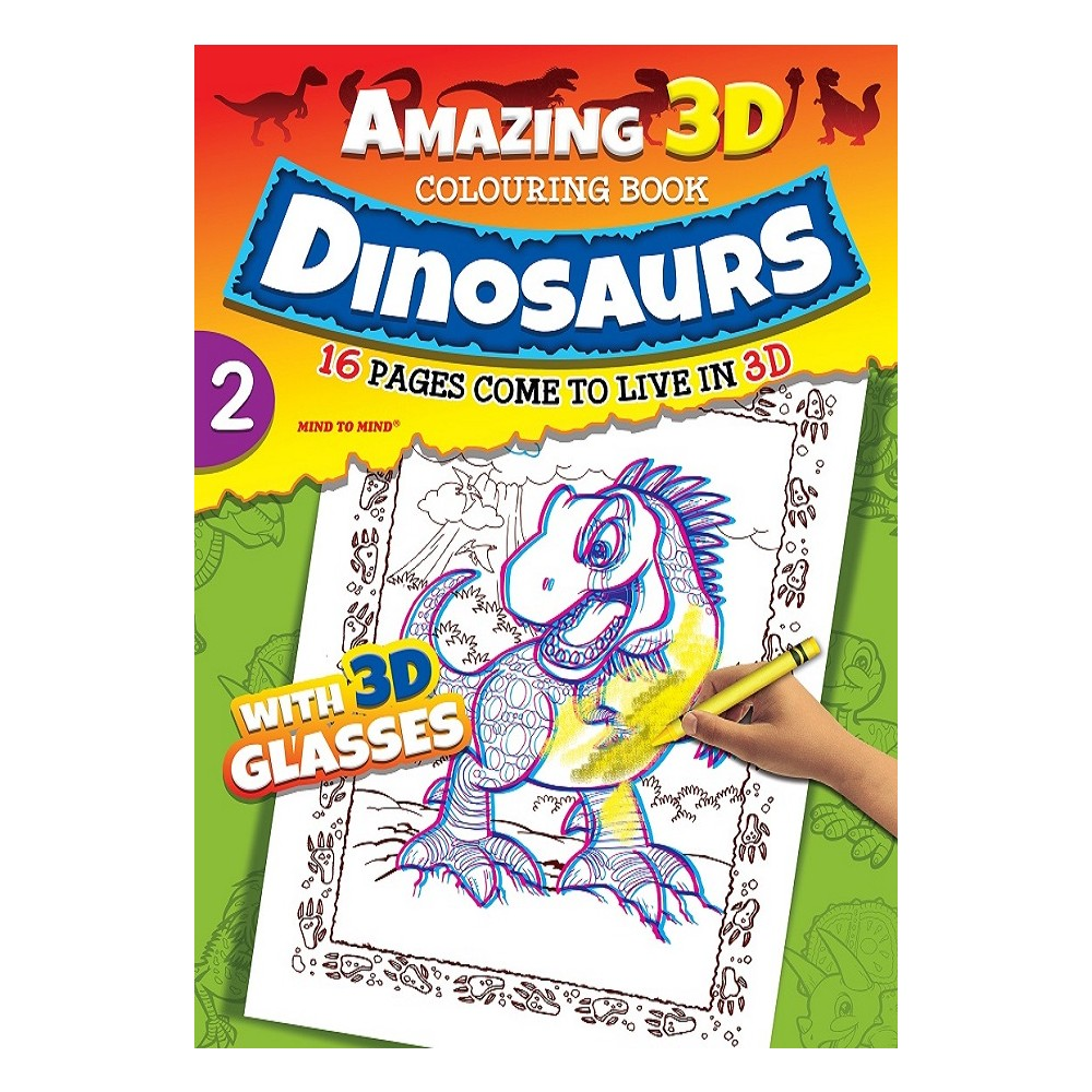 Amazing 3D Dinosaurs Colouring Book 2 (MM00701)