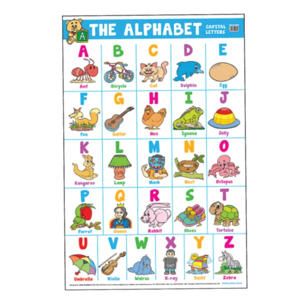 Educational Chart THE ALPHABET (Capital Letters) (MM00822)