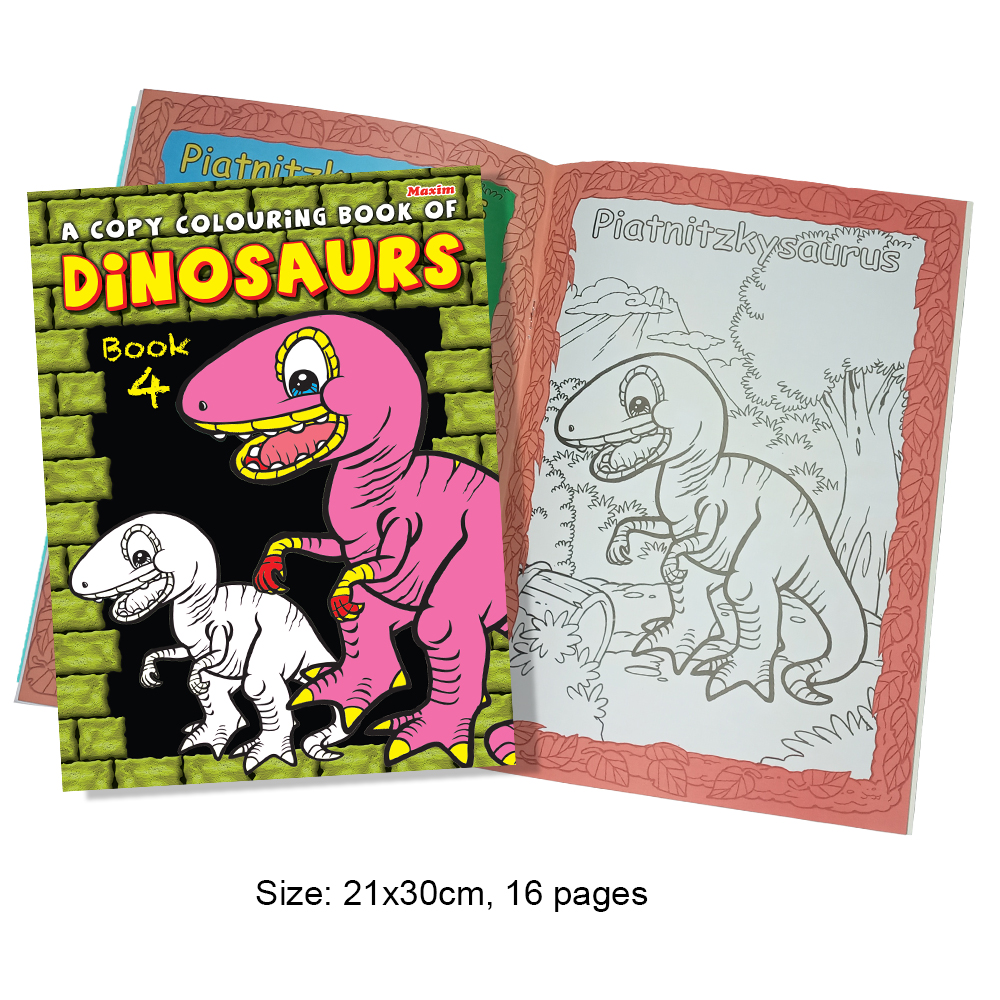 A Copy Colouring Book of Dinosaurs Book 4 (MM01362)