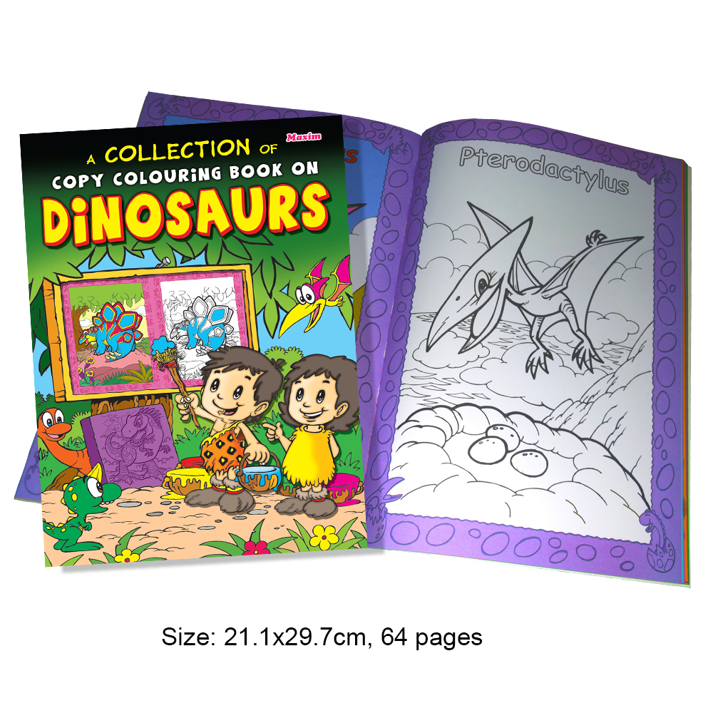 Collection of A Copy Colouring Book of Dinosaurs (MM01386)