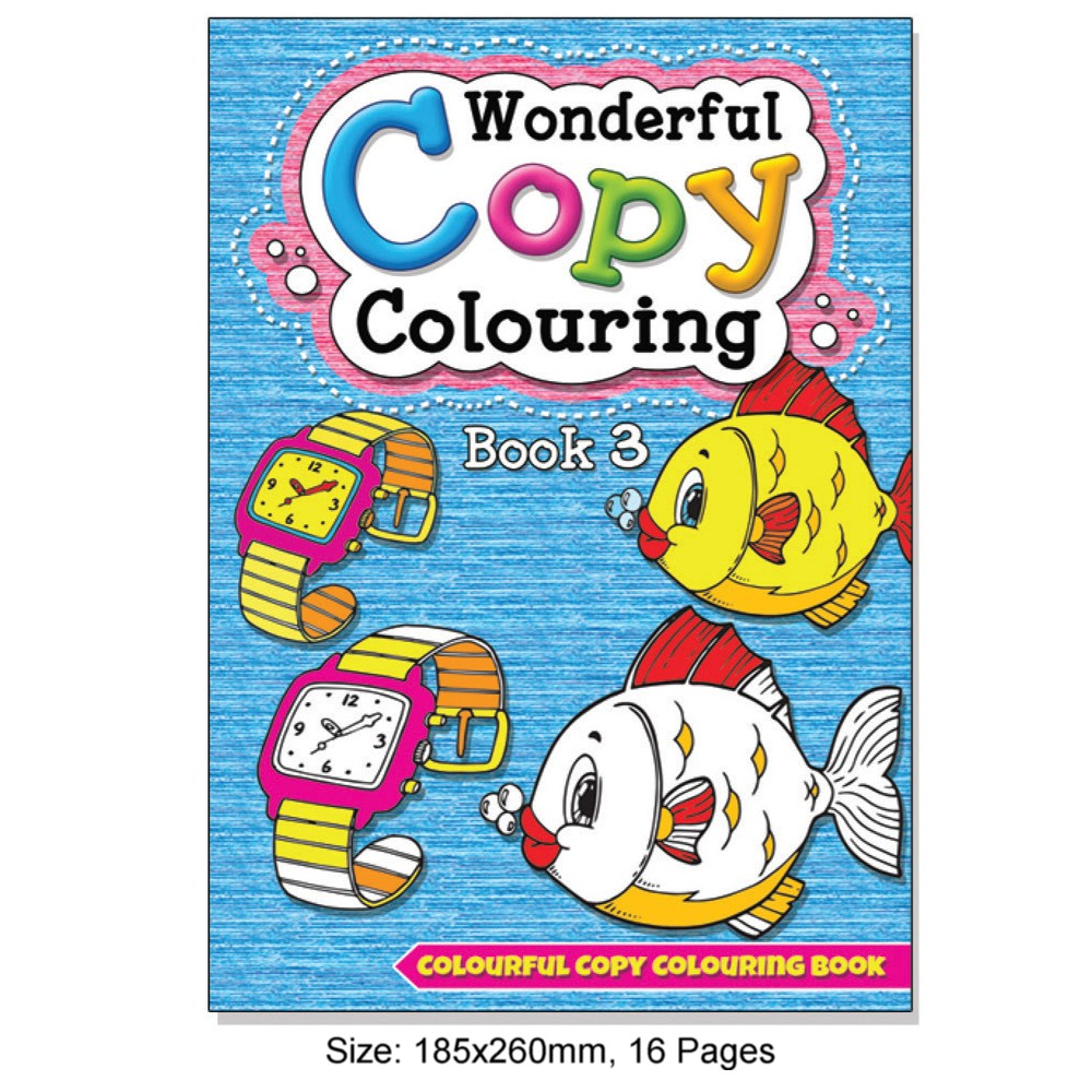 Wonderful Copy Colouring Book 3 (MM08509)