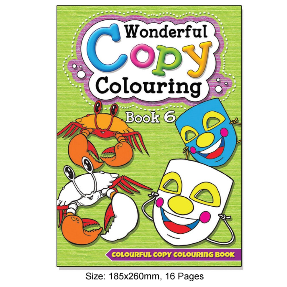 Wonderful Copy Colouring Book 6 (MM08806)