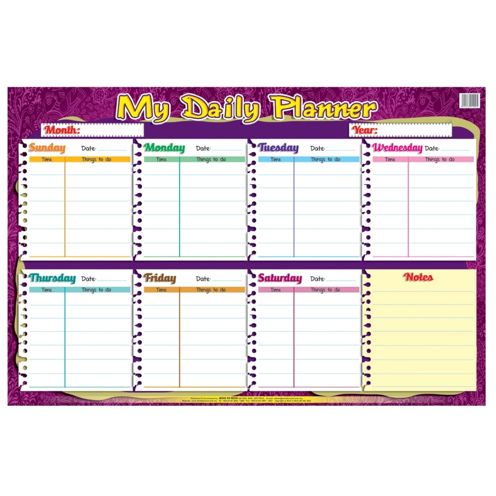 Educational Chart My Daily Planner (MM10005)