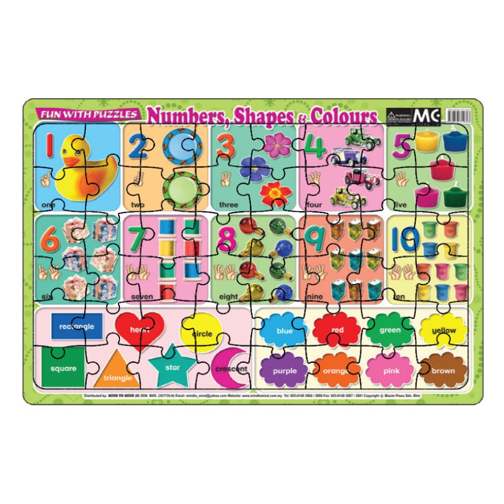 Fun With Puzzles Numbers, Shapes & Colours (MM12603)