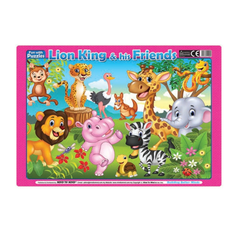 Fun With Puzzle Lion King & His Friends (MM14005)