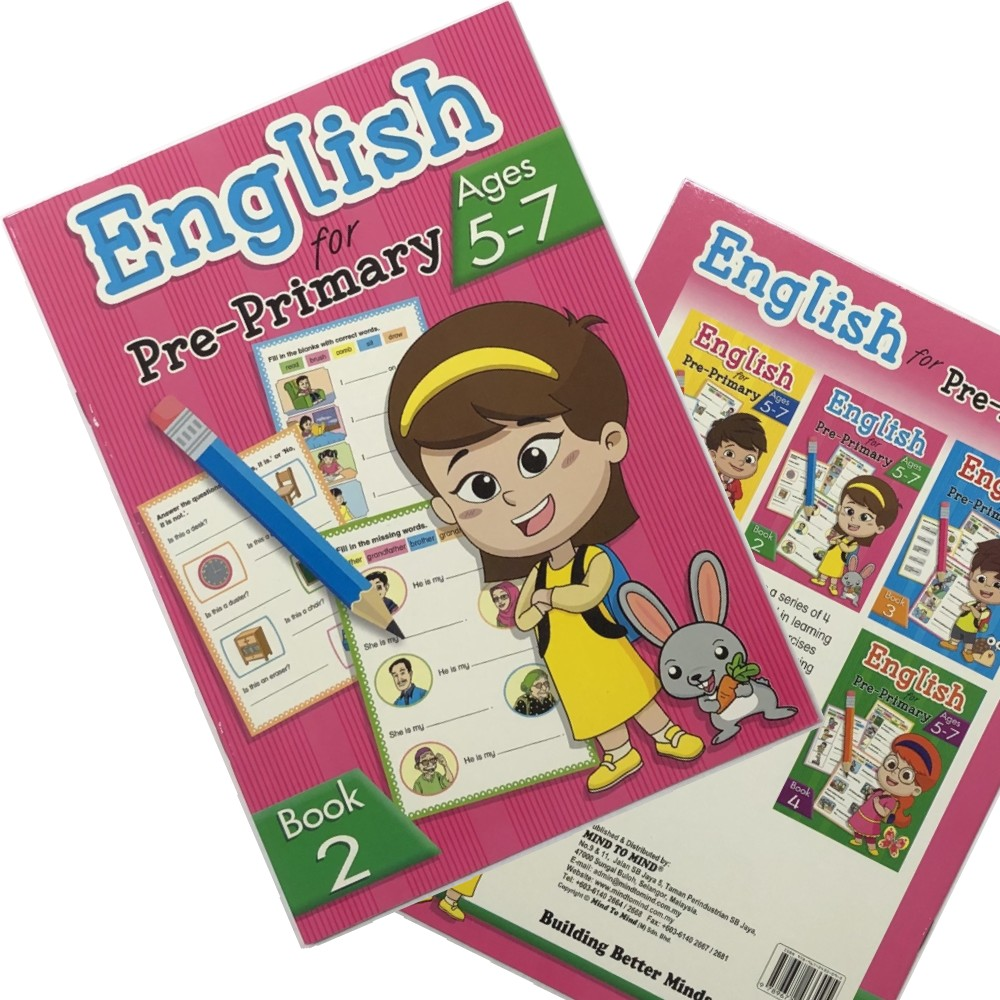 My Preschool English Activity Book 2, Ages 5-7 (MM33095)