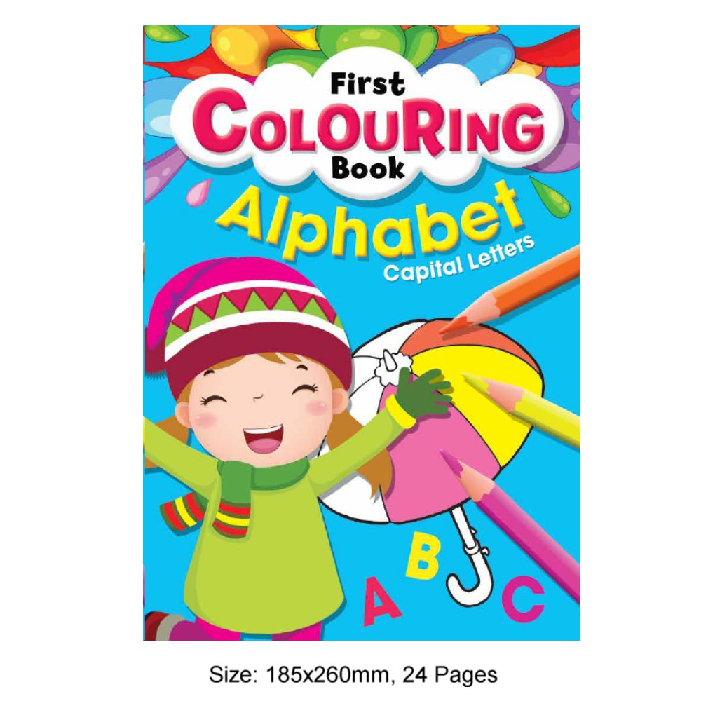 First Colouring Book Alphabet Capital Letters (MM80511)