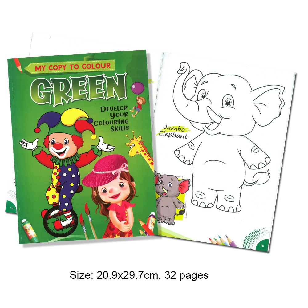 My Copy To Colour GREEN Develop Your Colouring Skills (MM69161)