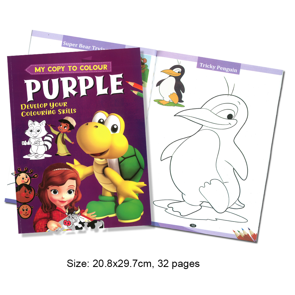 My Copy To Colour PURPLE Deveelop Your Colouring Skills (MM69192)