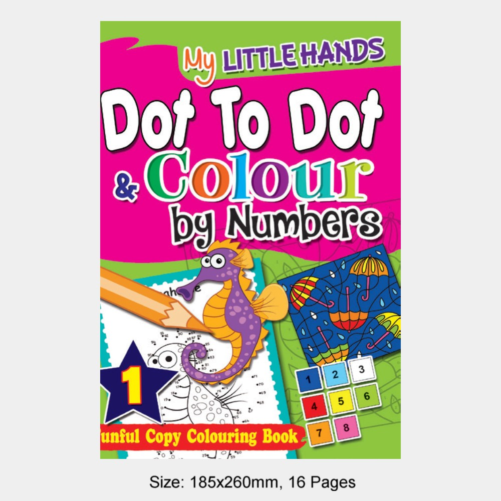 My Little Hands Dot To Dot & Colour by Numbers Book 1 (MM74942)