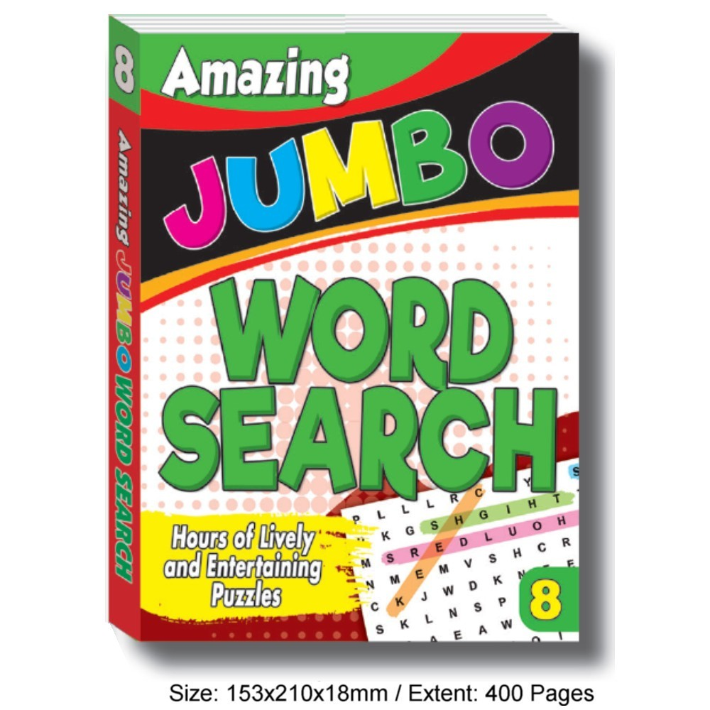 Amazing Jumbo Word Search Book 8 (MM76151)