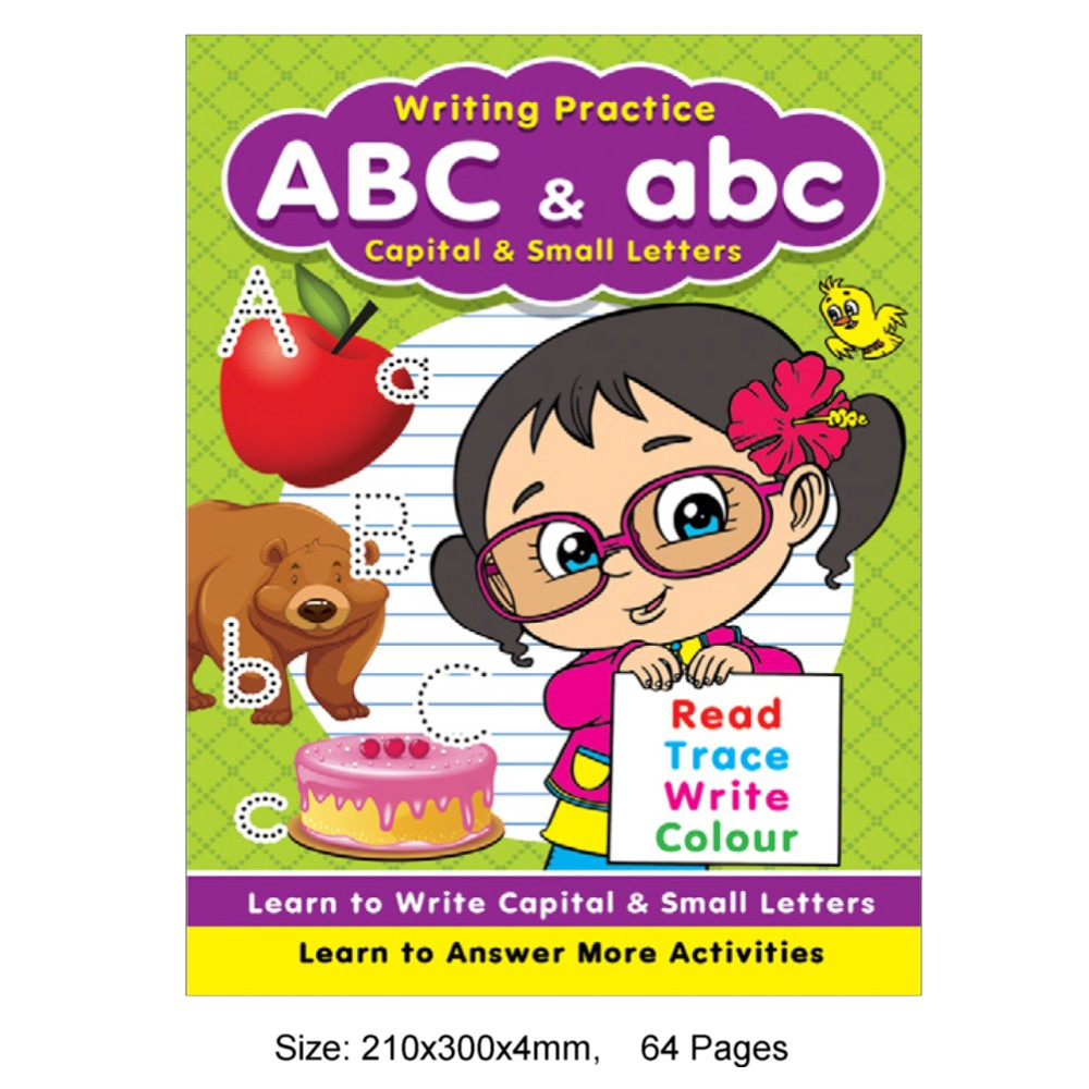 Writing Practice ABC & abc (Capital & Small Letters) (MM76885)