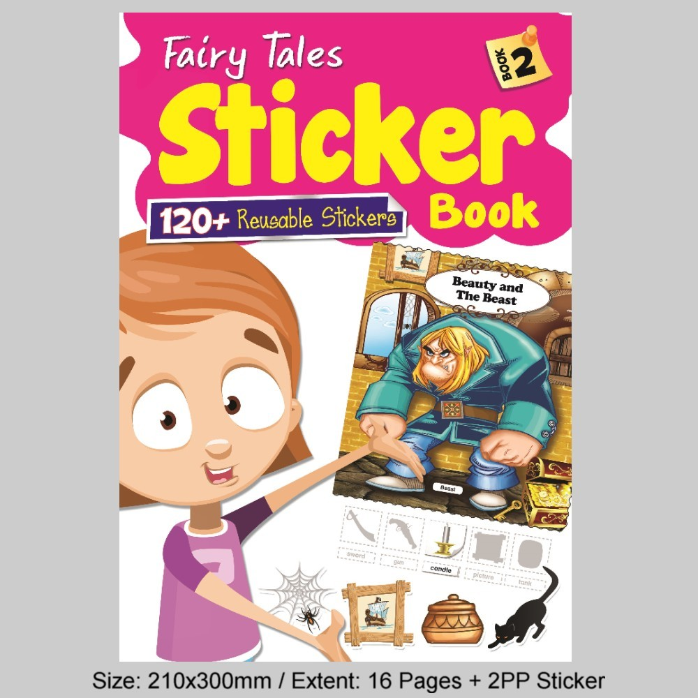 Fairy Tales Sticker Book 2 (120 + Reusable Stickers) (MM81804))