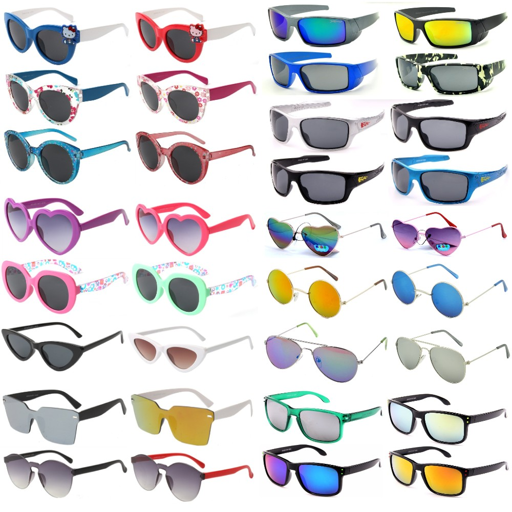 Buy 72 Pairs Kids Sunglasses Package Deal with Free Soft Case