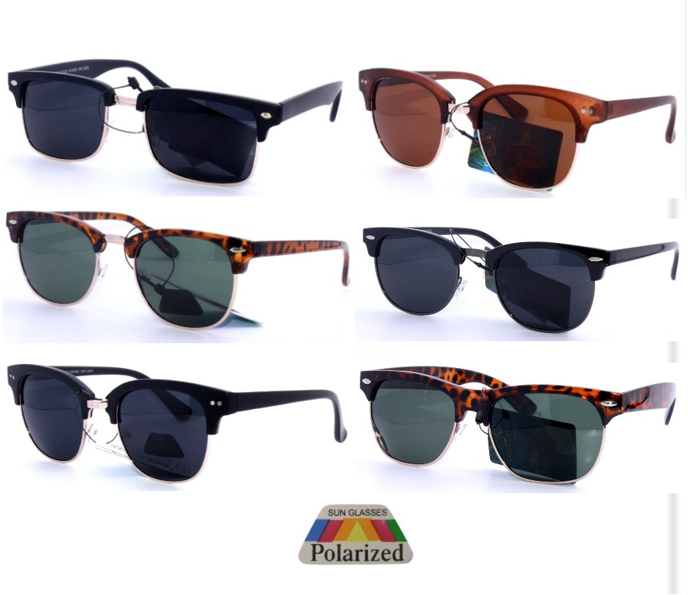 Polarized Metal Club master Dark Lens Sunglasses Sample Pack