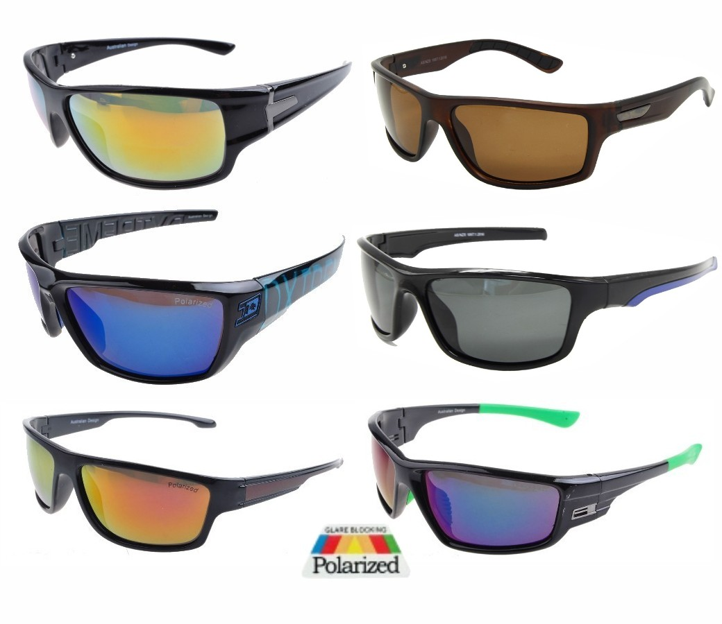 Mens Tint Lens Polarized Pustic Sports Sunglasses Sample Pack