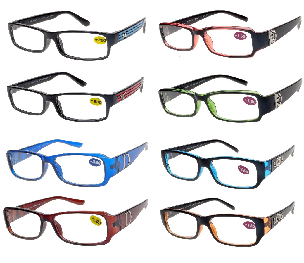 Fashion Reading Glasses Plastic Frame (4 Style) R9027-R9047-R9048-R9052