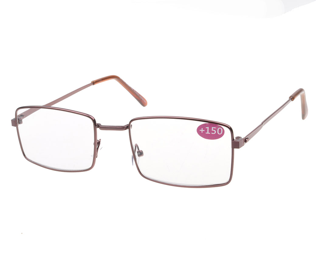 Reading Glasses Metal Frame Flat Temple R9109