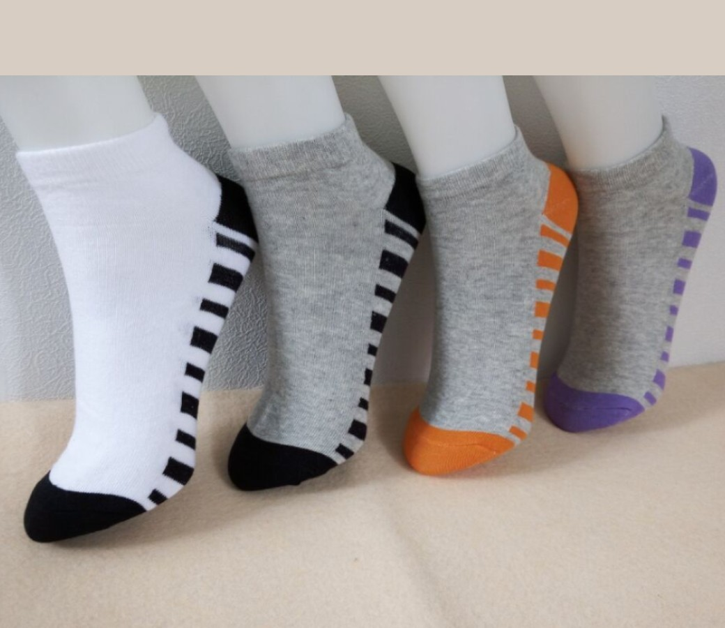 Cotton Low Cut Socks - Women Sport (4Pair Asst Color Pack) Size:2-8 SOC203-P4