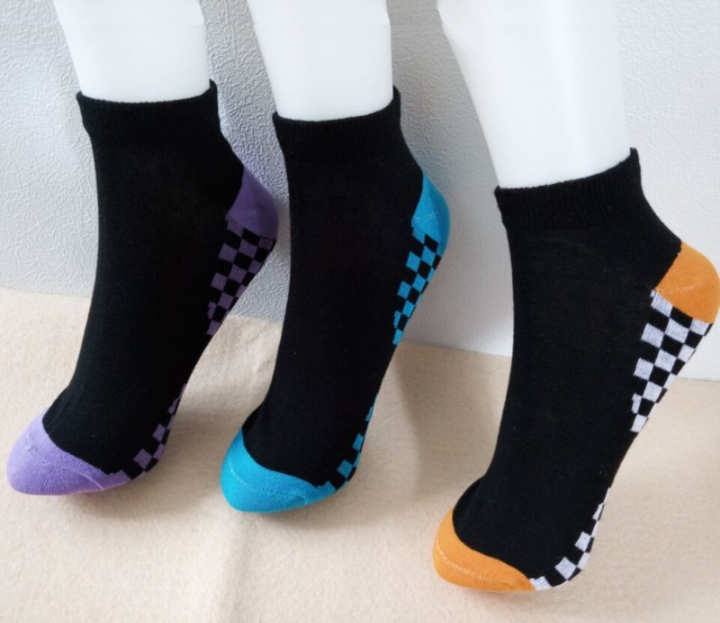 Cotton Low Cut Socks - Women Sport (3Pair Asst Color Pack) Size:2-8 SOC205-P3