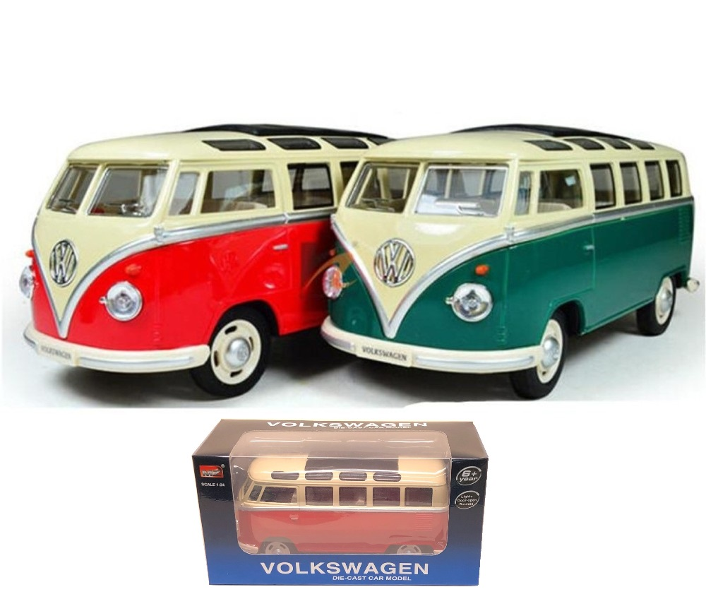 1:24 VW 1962 Classic Bus with Sound and Lights (2 Colours) MZ25052C