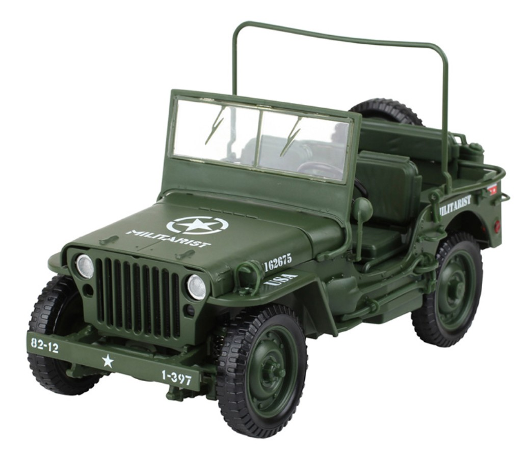 Tactical Jeep - 1:18 Heavy Diecast Model KDW685006W