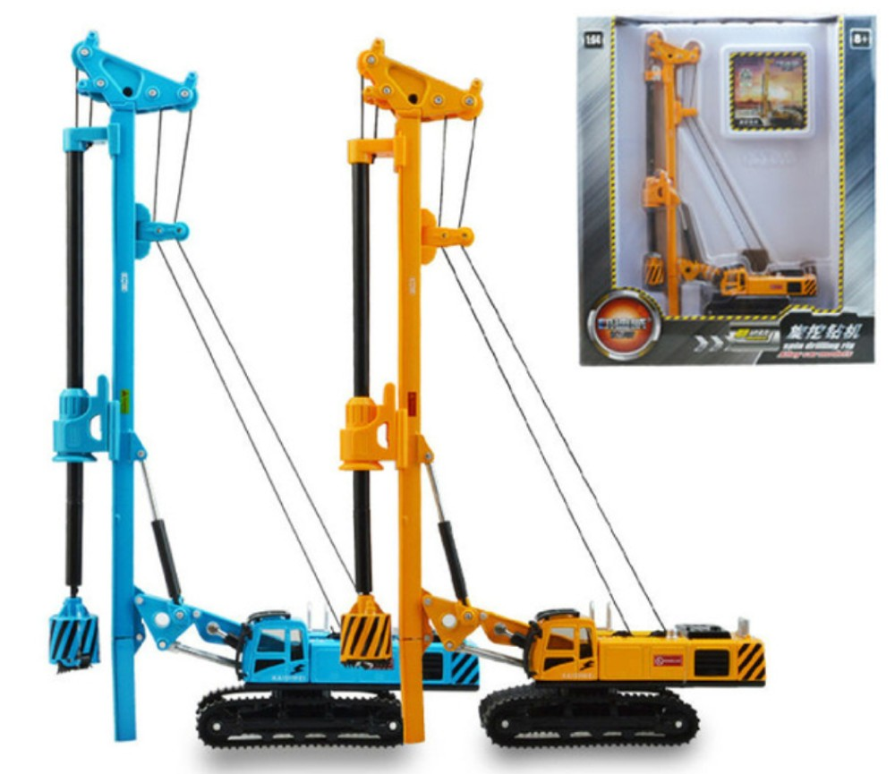 Rotary Drilling Rig Crawler Construction Piling Machinery - 1:64 Heavy Die cast Model KDW625021W